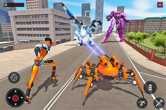 Speed Spider Robot Hero Rescue Mission screenshot 1