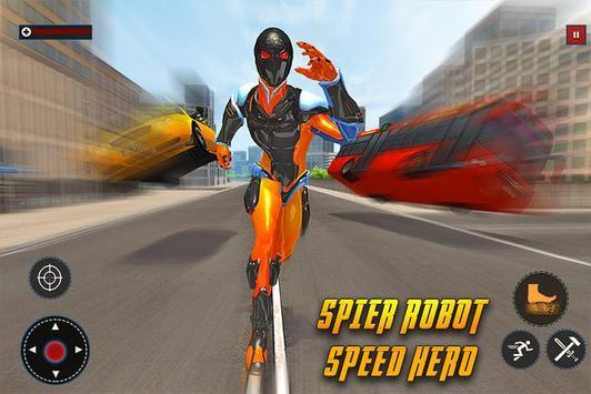 Speed Spider Robot Hero Rescue Mission screenshot 5