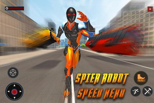 Speed Spider Robot Hero Rescue Mission screenshot 11