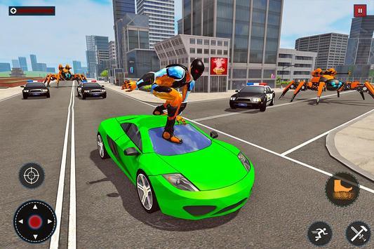 Speed Spider Robot Hero Rescue Mission screenshot 8