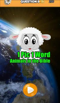 1 Pic 1 Word Animals in Bible LCNZ Bible Word Game poster