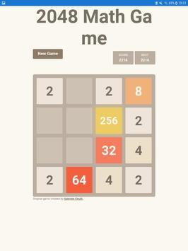 Poster 2048 Math Game