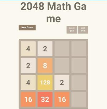 2048 Math Game captura de pantalla 1