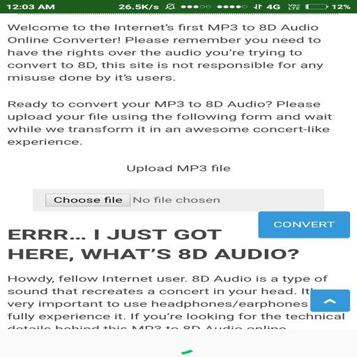 8D Audio CONVERTER for Android - APK Download