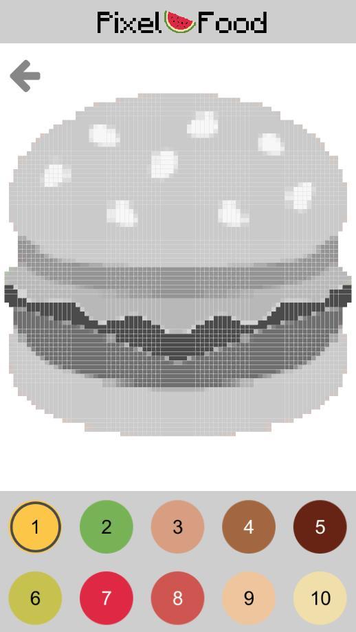 Peinture Par Numéro Nourriture Pixel Repas Pour Android