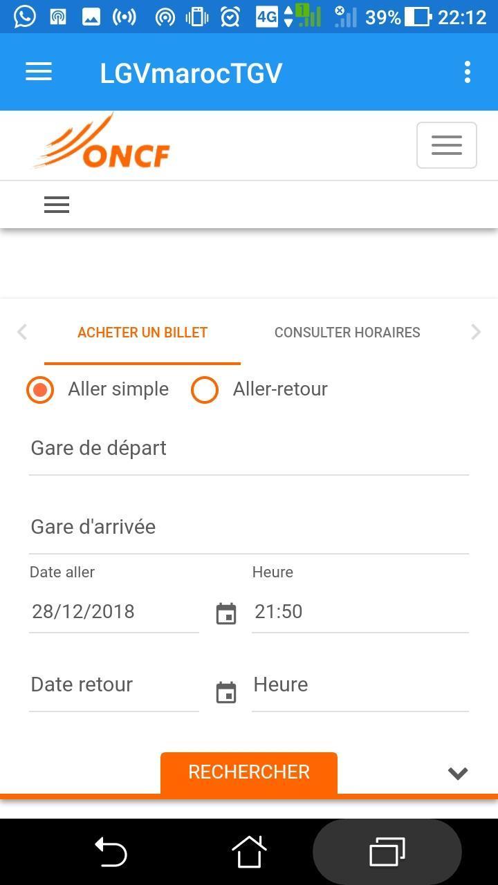 ONCF TÉLÉCHARGER HORAIRE TRAIN