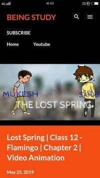 Being Study: English Animation Videos Class 10-12 poster