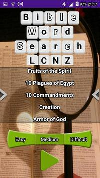 Bible Word Search LCNZ Word Game poster
