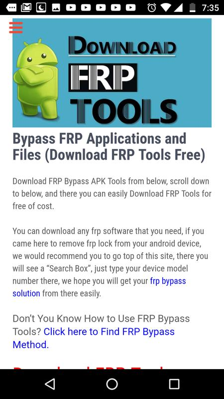Bypass frp applications and files techeligible