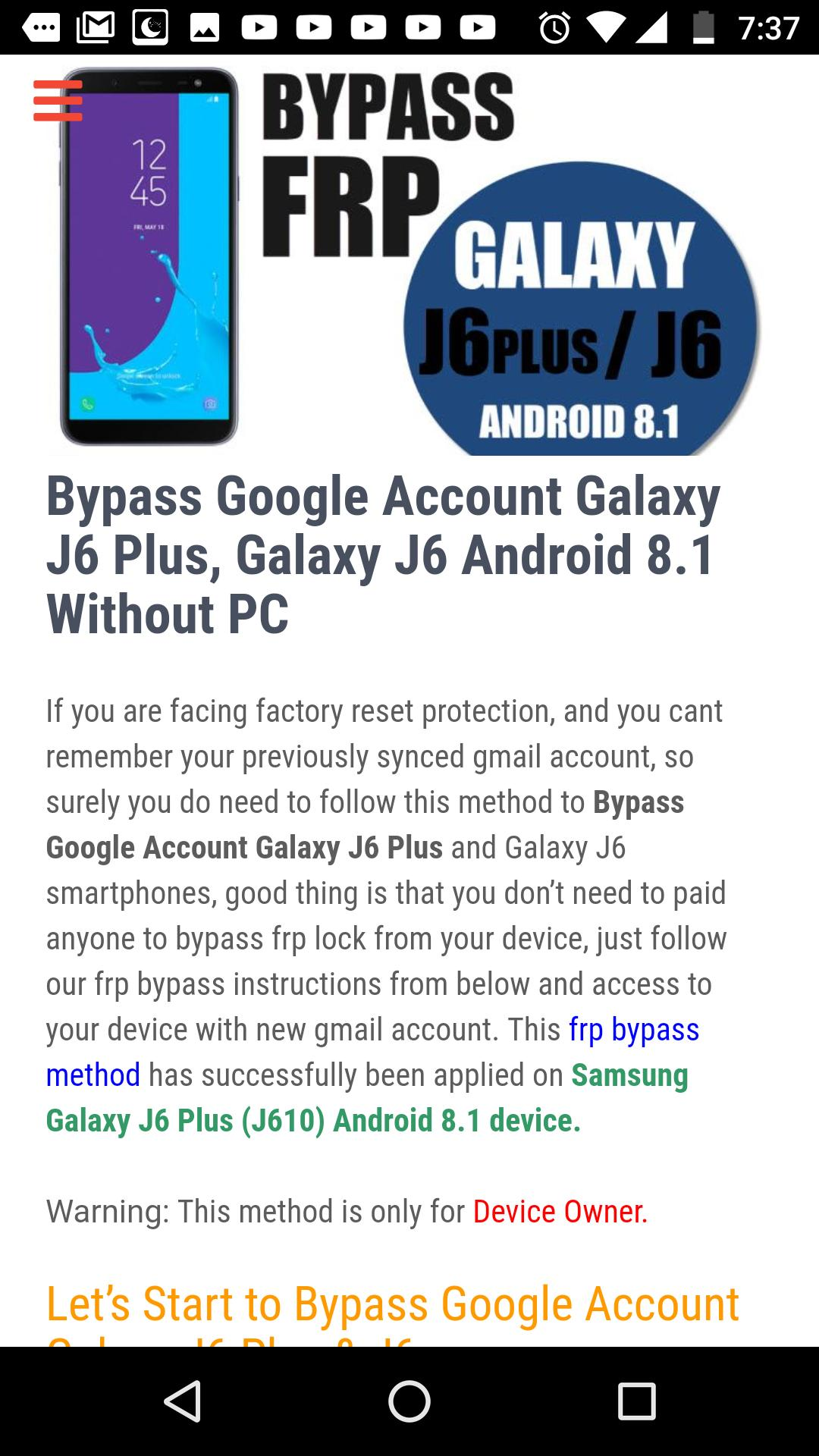 Bypass FRP Lock for Android - APK Download
