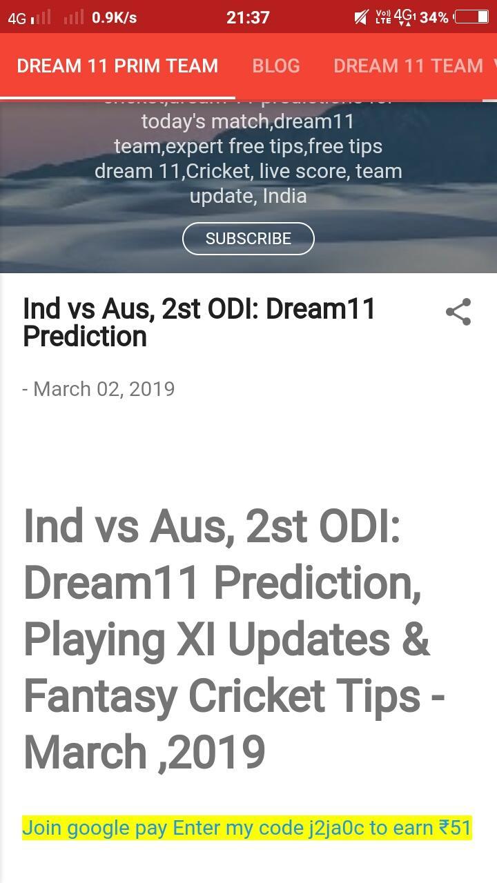 Dream 11 prim team for Android - APK Download