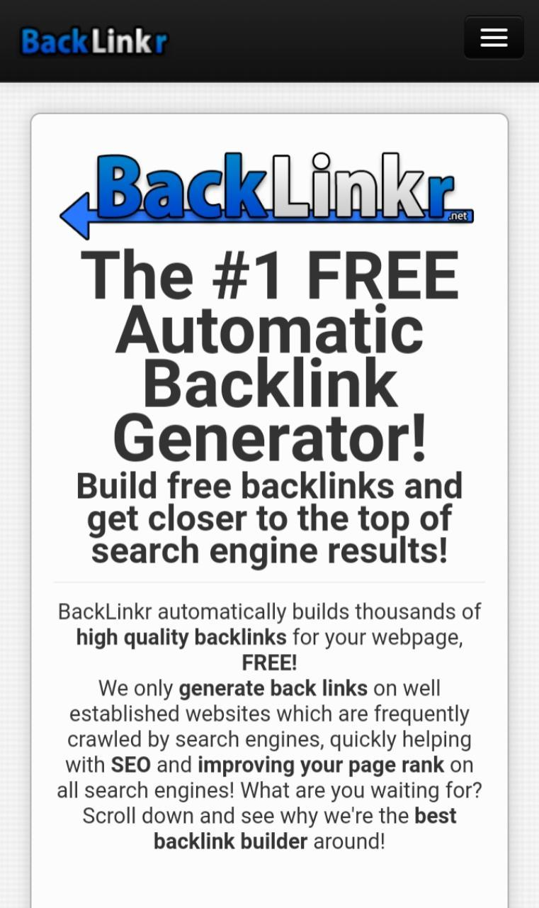 High Quality DA PA Dofollow Nofollow BackLinks for Android
