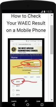 How to check WAEC results screenshot 2