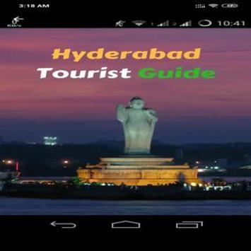 Hyderabad city travel guide poster