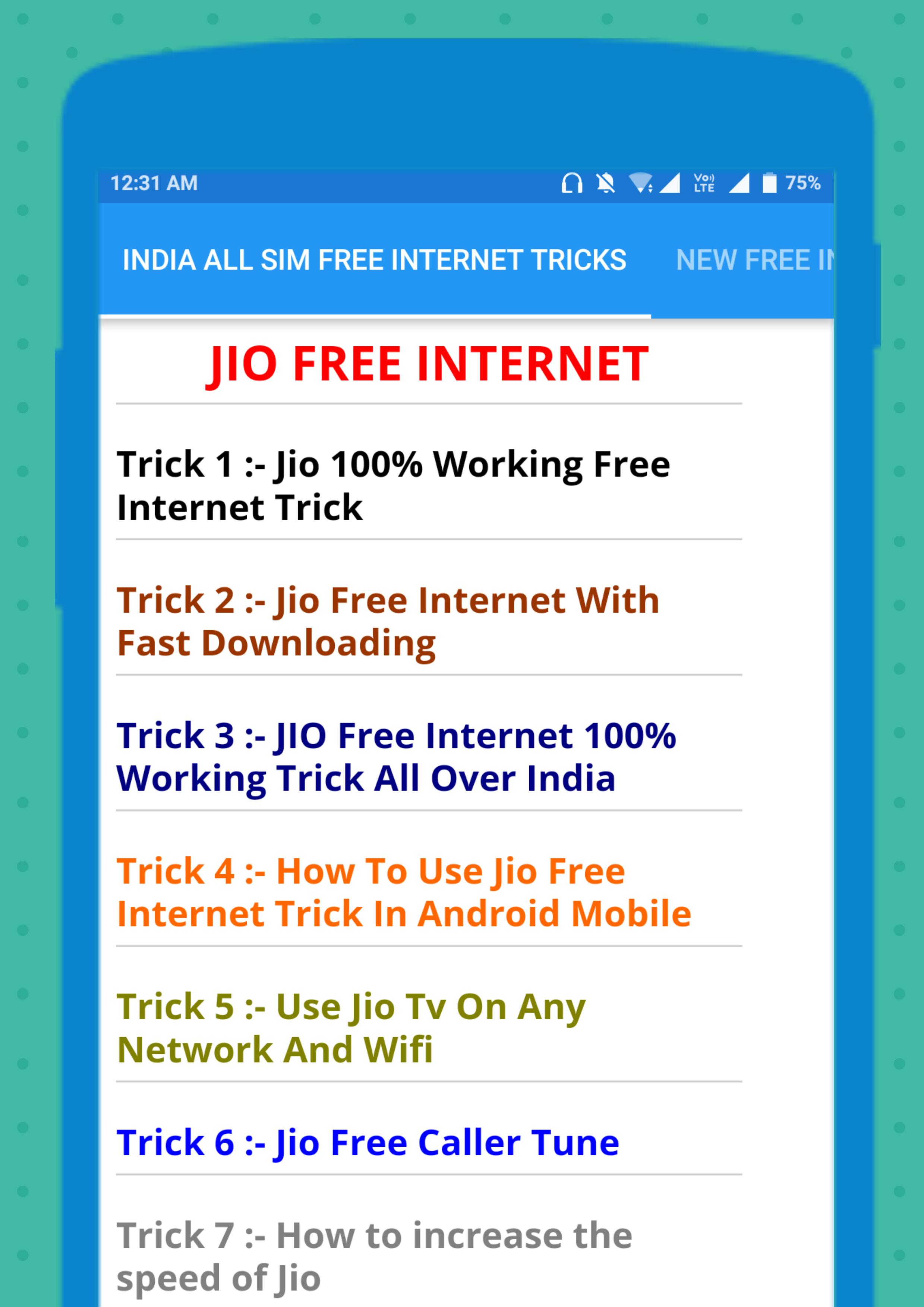 INDIA ALL SIM FREE INTERNET TRICKS for Android - APK Download