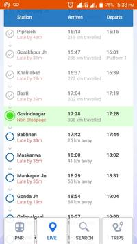 Indian Railway Status Live Train screenshot 1