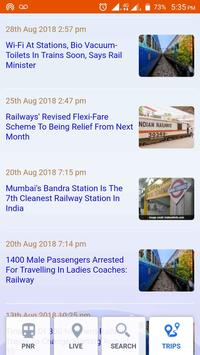 Indian Railway Status Live Train screenshot 2