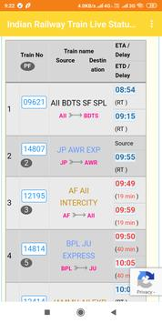 Indian Railway Train Live Status Full Enquiry screenshot 1