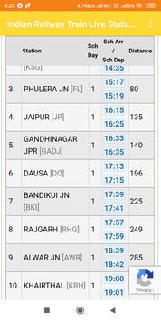 Indian Railway Train Live Status Full Enquiry screenshot 2
