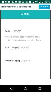 DAFTAR KOOD screenshot 2