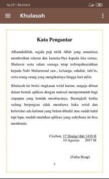 Khulasoh - Wirid Harian screenshot 1