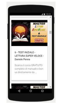 Lettura Veloce Corso Completo GRATIS screenshot 1