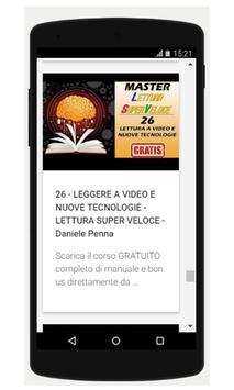 Lettura Veloce Corso Completo GRATIS screenshot 2
