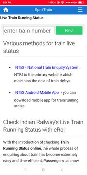 Live Train Running Status screenshot 2