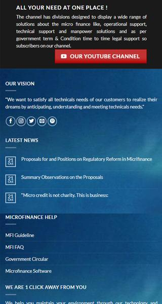 Microfinance software solutions