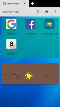 Modi Browser screenshot 1
