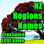 New Zealand Regions Names LCNZ NZ Crossword Game icon