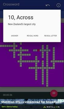New Zealand Regions Names LCNZ NZ Crossword Game screenshot 1