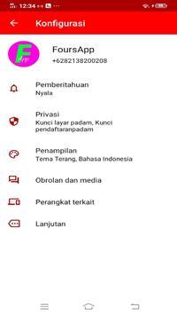 FoursApp Messenger screenshot 1