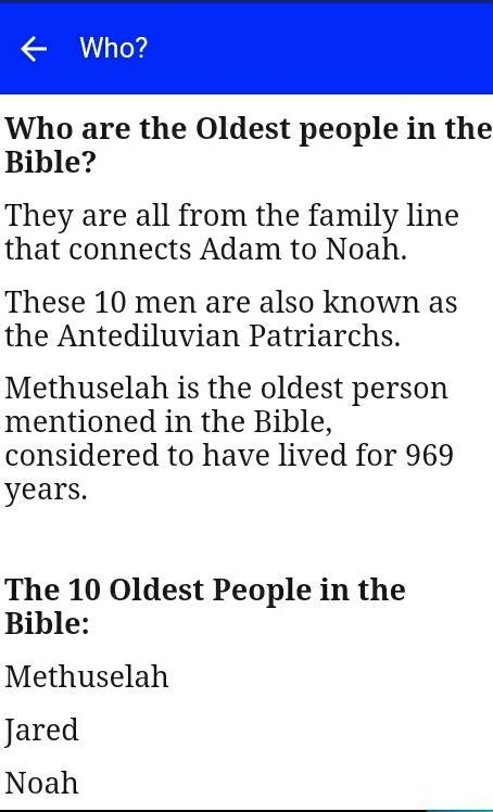 Oldest People in the Bible LCNZ Bible Study Guide poster