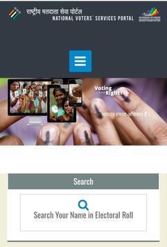 Online Voter App NVSP poster