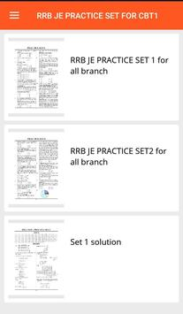RRB JE PRACTICE SET screenshot 1