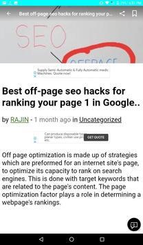 Seo Tips For Website screenshot 14
