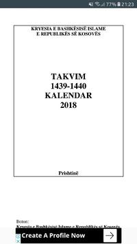 Takvimi Shqip 2018 poster