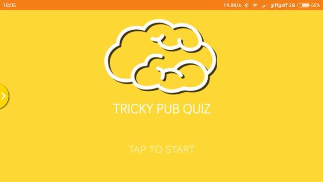 Tricky Pub Quiz poster