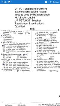 UP TGT ENGLISH SOLVED PAPERS poster