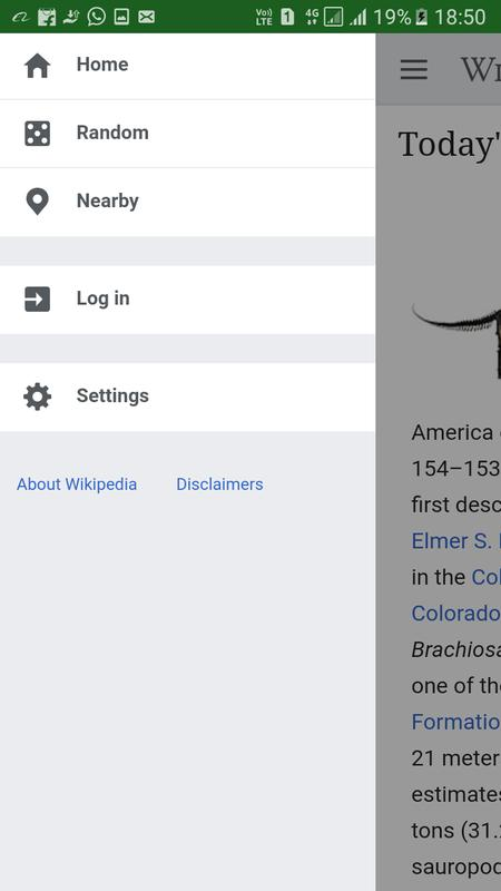 wikipedia android version