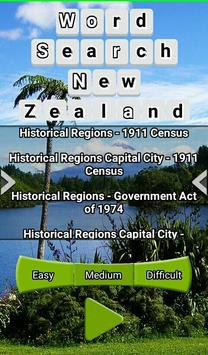 Word Search New Zealand RegioNS LCNZ WordFind Game screenshot 3