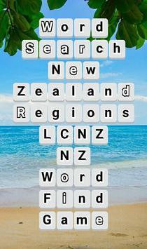 Word Search New Zealand RegioNS LCNZ WordFind Game poster