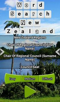 Word Search New Zealand RegioNS LCNZ WordFind Game screenshot 1
