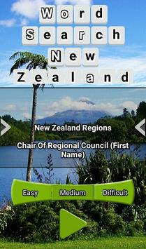 Word Search New Zealand RegioNS LCNZ WordFind Game screenshot 2