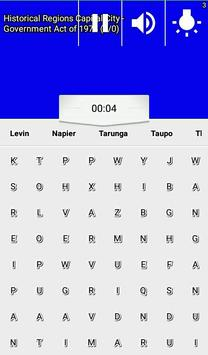 Word Search New Zealand RegioNS LCNZ WordFind Game screenshot 4