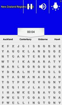 Word Search New Zealand RegioNS LCNZ WordFind Game screenshot 6