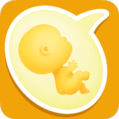 Week by Week Pregnancy App. Contraction timer icon
