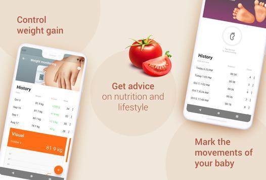 Week by Week Pregnancy App. Contraction timer screenshot 1