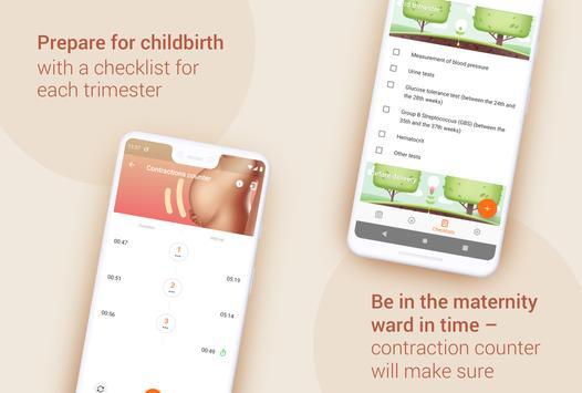 Week by Week Pregnancy App. Contraction timer screenshot 2